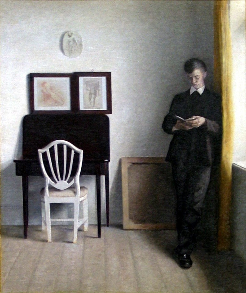 Young Man Reading, 1898.
